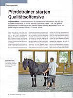 wirtschaft + weiterbildung: Pferdetrainer starten Qualit�tsoffensive
